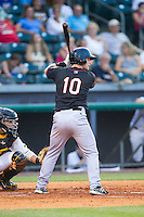 Brian Holberton (10) \oqc\ at bat against the Bowling Green Hot Rods at Bowling Green Ballpark on July 26, 2014 in Bowling Green, Kentucky.  The River Bandits defeated the Hot Rods 9-2.  (Brian Westerholt/Four Seam Images)