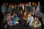 "Danielle Brooks, Natasha Lyonne, Dascha Polanco and Clive Davis with the cast and crew backstage after a performance of ""Ain't Too Proud"" at the Imperial Theatre on April 11, 2019 in New York City."