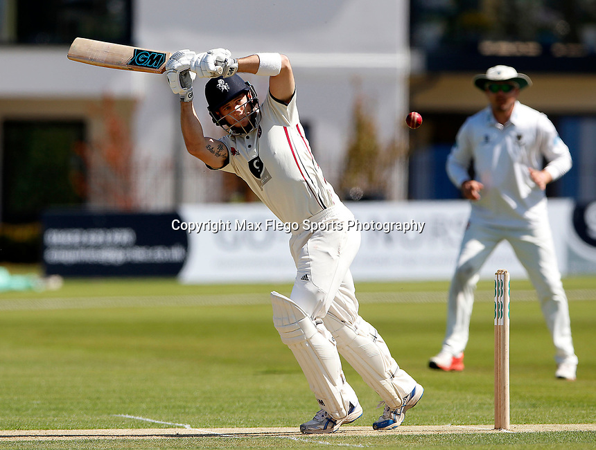 Sean Dickson bats for Kent during the Specsavers County Championship Div 2 game between Kent and Sussex at the St Lawrence Ground, Canterbury, on May 11, 2018