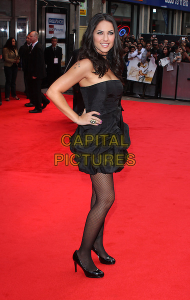 BARBARA MORI  .European Premiere of 'Kites' at the Odeon West End, Leicester Square, London, England. .May 18th 2010.full length dress black hand on hip side.CAP/ROS.©Steve Ross/Capital Pictures.
