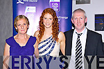 Louise Ni Muircheartaigh with her parents Nóirín and Diarmuid at the Munster GAA awards in the Malton Hotel on Saturday night