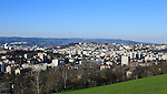 A view of Saint-Etienne, France on April 6, 2015 from Le Guizay.