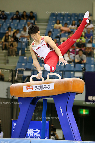 Hiroyuki Imai, <br /> JULY 6, 2014 - Artistic Gymnastics : The 68th All Japan Artistic Gymnastics Apparatus Championship, Men's Pommel horse at Chiba Port Arena, Chiba, Japan. (Photo by Yohei Osada/AFLO SPORT)