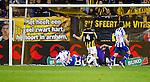 Nederland, Arnhem, 6 oktober 2012.Eredivisie.Seizoen 2012-2013.Vitesse-SC Heerenveen.Alfred Finnbogason (l.) van SC Heerenveen scoort de 0-1.