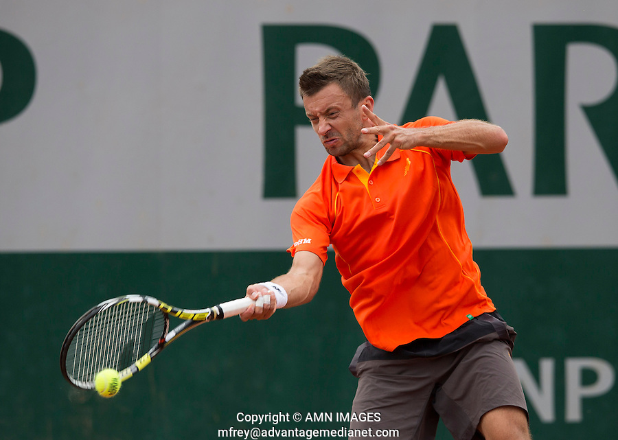 MICHAL PRZYSIEZNY (POL)<br /> <br /> Tennis - French Open 2014 -  Toland Garros - Paris -  ATP-WTA - ITF - 2014  - France -  25 May 2014. <br /> <br /> &copy; AMN IMAGES