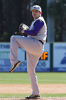 Trevor Knight of James Madison University pitching during a game against UC Irvine at the Baseball at the Beach Tournament held at BB&T Coastal Field in Myrtle Beach, SC on February 28, 2010.