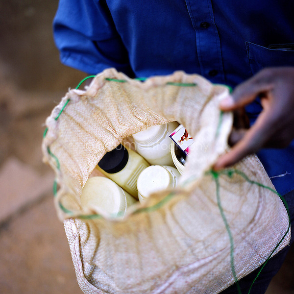 Most evenings, a traditional doctor travels to Gambaga to treat sick women.