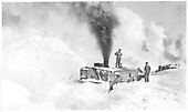 D&amp;RGW OM rotary snow plow working.<br /> D&amp;RGW  MP 295 Big Horn Section House, CO  ca 1932