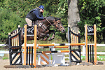 Stapleford Abbotts. United Kingdom. 18 August 2019. Class 11. Unaffiliated showjumping. Brook Farm training centre. Essex. UK.~ 18/08/2019.  MANDATORY Credit Ellen Szalai/Sport in Pictures - NO UNAUTHORISED USE - 07837 394578