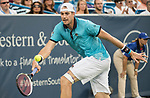 August  15, 2017:  John Isner (USA) defeated Tommy Paul (USA) 6-3, 6-3 at the Western & Southern Open being played at Lindner Family Tennis Center in Mason, Ohio. ©Leslie Billman/Tennisclix/CSM