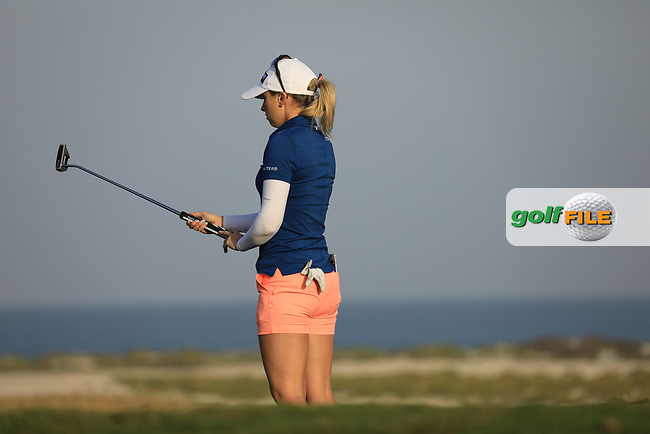 Jody Ewart Shadoff (ENG) during the first round of the Fatima Bint Mubarak Ladies Open played at Saadiyat Beach Golf Club, Abu Dhabi, UAE. 10/01/2019<br /> Picture: Golffile | Phil Inglis<br /> <br /> All photo usage must carry mandatory copyright credit (&copy; Golffile | Phil Inglis)