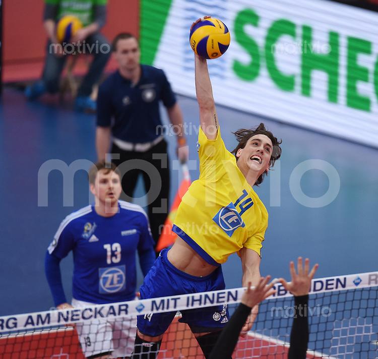 Volleyball 1. Bundesliga Saison 2016/2017  28.12.2016 TV Rottenburg - VfB Friedrichshafen Tomas Rousseaux (VfB Friedrichshafen)
