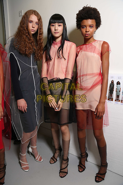 J. JS Lee<br /> Jackie Lee<br /> London Fashion Week, Ready to Wear, FW17<br /> on September 18, 2016<br /> CAP/GOL<br /> &copy;GOL/Capital Pictures