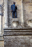 Man with Cup artwork by Sean Henry Salisbury cathedral, Wiltshire, England