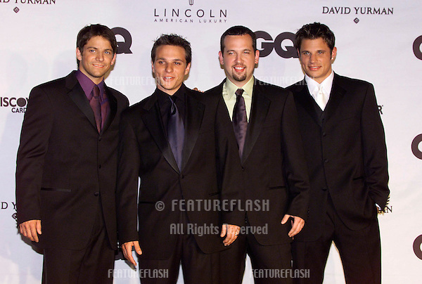Pop group 98 DEGREES at GQ Magazine's 5th Annual Men of the Year Awards in New York..26OCT2000.  © Paul Smith / Featureflash