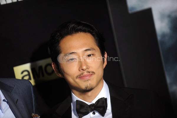 Steven Yeun attend 'The Walking Dead' season six premiere at Madison Square Garden  on October 09, 2015 in New York. Credit: Dennis Van Tine/MediaPunch