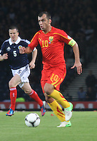 Goran Pandev in the Scotland v Macedonia FIFA World Cup Qualifying match at Hampden Park, Glasgow on 11.9.12.