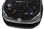 Car Stock 2014 Volkswagen GOLF GTD 5 Door Hatchback Engine high angle detail view