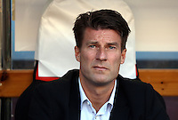 Valencia, Spain. Thursday 19 September 2013<br /> Pictured: Swansea manager Michael Laudrup<br /> Re: UEFA Europa League game against Valencia C.F v Swansea City FC, at the Estadio Mestalla, Spain,