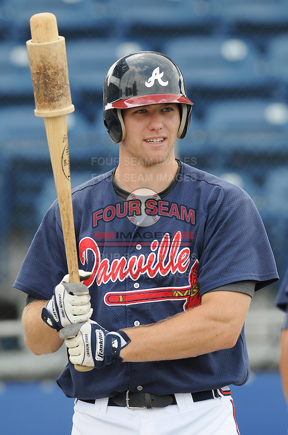 July 15, 2009: Catcher Jace Whitmer (36) of the Danville Braves, rookie Appalachian League affiliate of the Atlanta Braves, before a game at Dan Daniel Memorial Park in Danville, Va. Photo by:  Tom Priddy/Four Seam Images