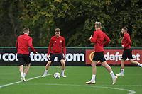 Joe Roddon (cenetre) of Wales in action during the Wales Training Session at The Vale Resort in Cardiff, Wales, UK. Monday 8 October 2018