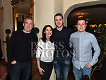 Ronan Phillips, Una Garvey, James Murray and Mickey Leech at the launch of Newtown Blues Strictly Come Dancing in Garvey's. Photo:Colin Bell/pressphotos.ie