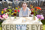 Molly Sheehy from the Spa showing her flower display at the Annual Heritage Day at the Old Forge Churchill