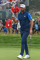 Dustin Johnson (USA) after sinking his putt on 6 during round 2 of the 2019 US Open, Pebble Beach Golf Links, Monterrey, California, USA. 6/14/2019.<br /> Picture: Golffile | Ken Murray<br /> <br /> All photo usage must carry mandatory copyright credit (© Golffile | Ken Murray)