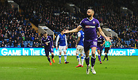 Bolton Wanderers&rsquo; Aaron Wilbraham celebrates scoring his sides equalising goal to make the score 1-1<br /> <br /> Photographer Chris Vaughan/CameraSport<br /> <br /> The EFL Sky Bet League Two - Mansfield Town v Lincoln City - Tuesday 6th March 2018 - Field Mill - Mansfield<br /> <br /> World Copyright &copy; 2018 CameraSport. All rights reserved. 43 Linden Ave. Countesthorpe. Leicester. England. LE8 5PG - Tel: +44 (0) 116 277 4147 - admin@camerasport.com - www.camerasport.com