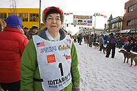 June Leonard widow of Honorary Musher Gene Leonard @ 2006 Iditarod Ceremonial Start Downtown