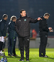 Plymouth Argyle Manager Derek Adams during the Sky Bet League 2 match between Wycombe Wanderers and Plymouth Argyle at Adams Park, High Wycombe, England on 14 March 2017. Photo by Kevin Prescod / PRiME Media Images.