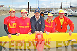 LIFESAVERS:Lifegaurds Kyle O'Donovan, Michael O'Connell and Brendan O'Connor, Tralee with David Kelly, Carrigaline, Declan O'Hara, Ballyheigue at the Fenit Lifeboat Regatta on Sunday. .