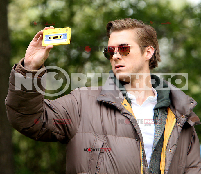 April 11, 2012 Arthur Darvill durante una grabacion para la BBC TV serie Doctor Who en el Central Park New York City.<br />