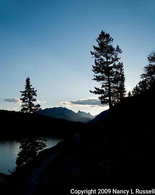 Evening light at Johnson Lake