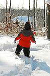 Alex's makes trails on his first day in the snow with the family December 2009.