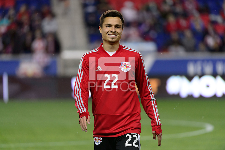 Harrison, NJ - Thursday March 01, 2018: Florian Valot. The New York Red Bulls defeated C.D. Olimpia 2-0 (3-1 on aggregate) during a 2018 CONCACAF Champions League Round of 16 match at Red Bull Arena.