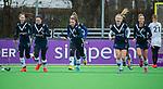 AMSTELVEEN - Pinoke (Dana Luijkx (Pin)) heeft gescoord   tijdens de hoofdklasse competitiewedstrijd dames, Pinoke-Amsterdam (3-4). COPYRIGHT KOEN SUYK