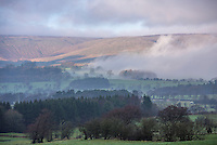 Mist and fog, Lancashire Fells, Forest of Bowland, Chipping, Lancashire.