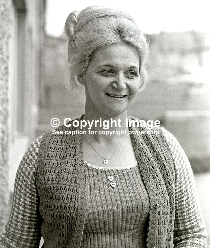 Mrs Mary Douglas, senior member, UDA, Ulster Defence Association, N Ireland, 197405060243a<br />