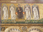 Christ and angels, Basilica di Sant'Apollinare Nuevo, 6th century Byzantine mosaics, Ravenna, Italy
