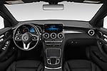 Stock photo of straight dashboard view of a 2020 Mercedes Benz GLC-Class GLC300 5 Door SUV