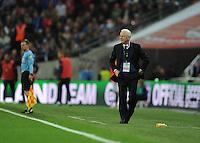 29.05.2013 London, England. Republic of Ireland manager, Giovanni Trapattoni on the sideline during the International Friendly between England and Republic of Ireland from Wembley Stadium.