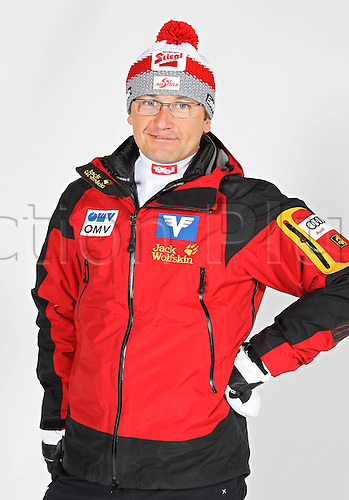16.10.2010  Winter sports OSV Einkleidung Innsbruck Austria. Ski Nordic Nordic Combination OSV Austrian Ski Federation. Picture shows team manager Harald Diess AUT