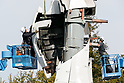 Work continues on removal of Gundam statue