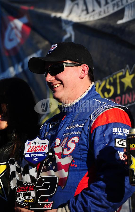 Dec. 10, 2011; Chandler, AZ, USA;  LOORRS super lite driver Kyle Lucas during round 15 at Firebird International Raceway. Mandatory Credit: Mark J. Rebilas-