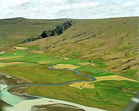 Bessastaðagerði, Litlagrund og Bessastaðir, Fljótsdalshreppur..Bessastadagerdi, Litlagrund and Bessastadir, Fljotsdalshreppur