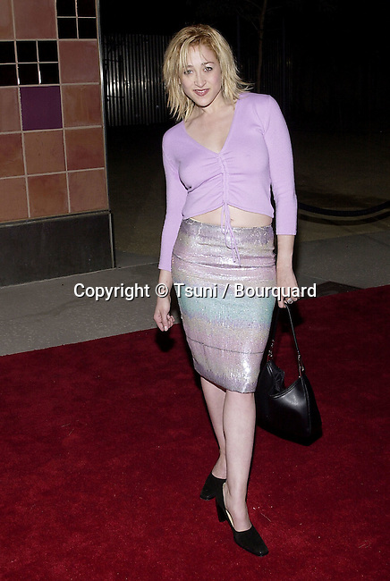 Jennifer Blanc (Black Angel) arriving  at the world premiere of &quot;N'Sync&quot; Bigger than Live, The concert movie at the California Science Center IMAX Theatre in Los Angeles.  3/30/2001  <br />                                                                                                                            BlancJennifer05.JPG