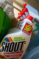 Bottles of Shout stain remover are seen in a Metro grocery store in Quebec city March 4, 2009.