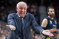 Fenerbahce Dogus coach Zeljko Obradovic during Turkish Airlines Euroleague match between Real Madrid and Fenerbahce Dogus at Wizink Center in Madrid , Spain. March 02, 2018. (ALTERPHOTOS/Borja B.Hojas) /NortePhoto.com NORTEPHOTOMEXICO