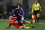 (L-R) <br /> Wang Shanshan (CHN), <br /> Mina Tanaka (JPN), <br /> DECEMBER 11, 2017 - Football / Soccer : <br /> EAFF E-1 Football Championship 2017 Women's Final match <br /> between Japan 1-0 China <br /> at Fukuda Denshi Arena in Chiba, Japan. <br /> (Photo by Naoki Nishimura/AFLO SPORT)